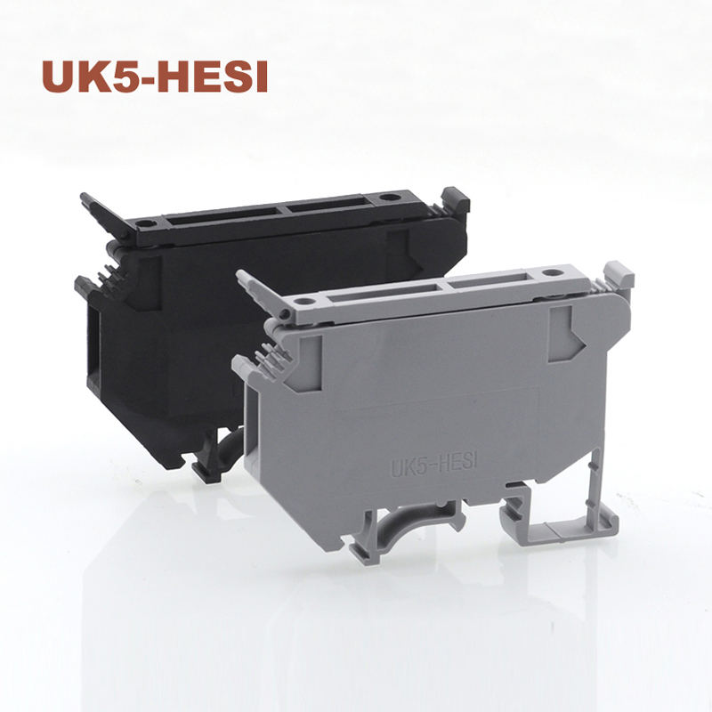 10/15/50pcs UK5-HESI Din rail Clamp fuse terminal blocks screw wire electrical cable connector Wiring terminals block seat 6.3A10/15/50pcs UK5-HESI Din rail Clamp fuse terminal blocks screw wire electrical cable connector Wiring terminals block seat 6.3A