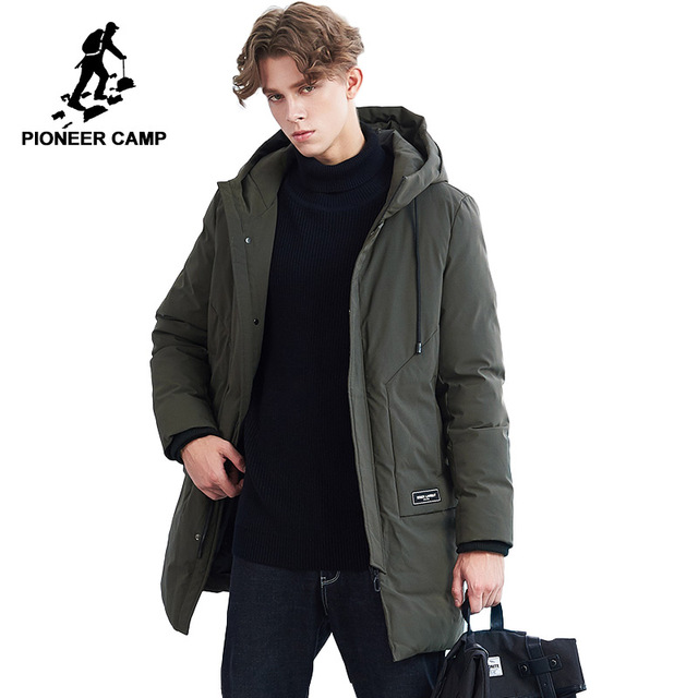 : Buy Pioneer Camp New long parka men brand clothing thick warm winter jacket male top quality cotton quilted coat men AMF801455 from