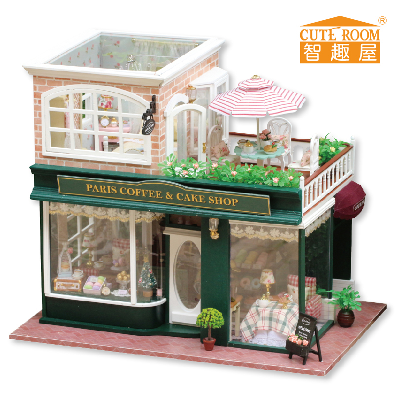 Furniture Diy Doll House Wodden Miniatura Doll Houses Furniture Kit Diy Puzzle Handmade Assemble Dollhouse Toy