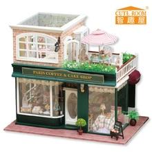 Maison de poupée en bois, Kit de meubles, maison de poupée miniature en bois, bricolage, Puzzle à assembler à la main, jouet pour enfants, cadeau