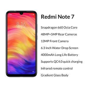 Image 2 - Global Version Xiaomi Redmi Note 7 3GB 32GB Mobile Phones Snapdragon 660 48MP+13MP Dual Camera 6.3 Full Screen 4000mAh CE FCC
