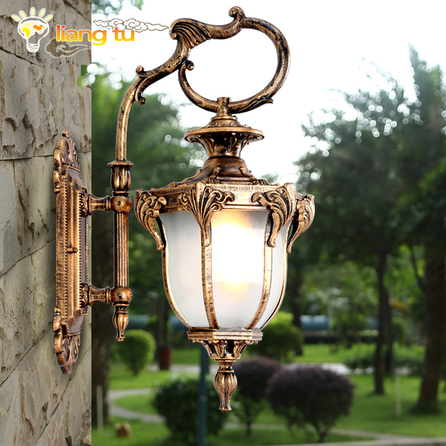 European style outdoor wall lamp american style villa garden retro european style outdoor wall lamp american style villa garden retro led exterior lights waterproof mozeypictures Gallery