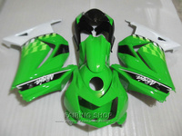 Injection molding fairing body kit For Kawasaki ninja 250r 08 09 10-14 2008-2014 green white black EX250 fairings set PO21