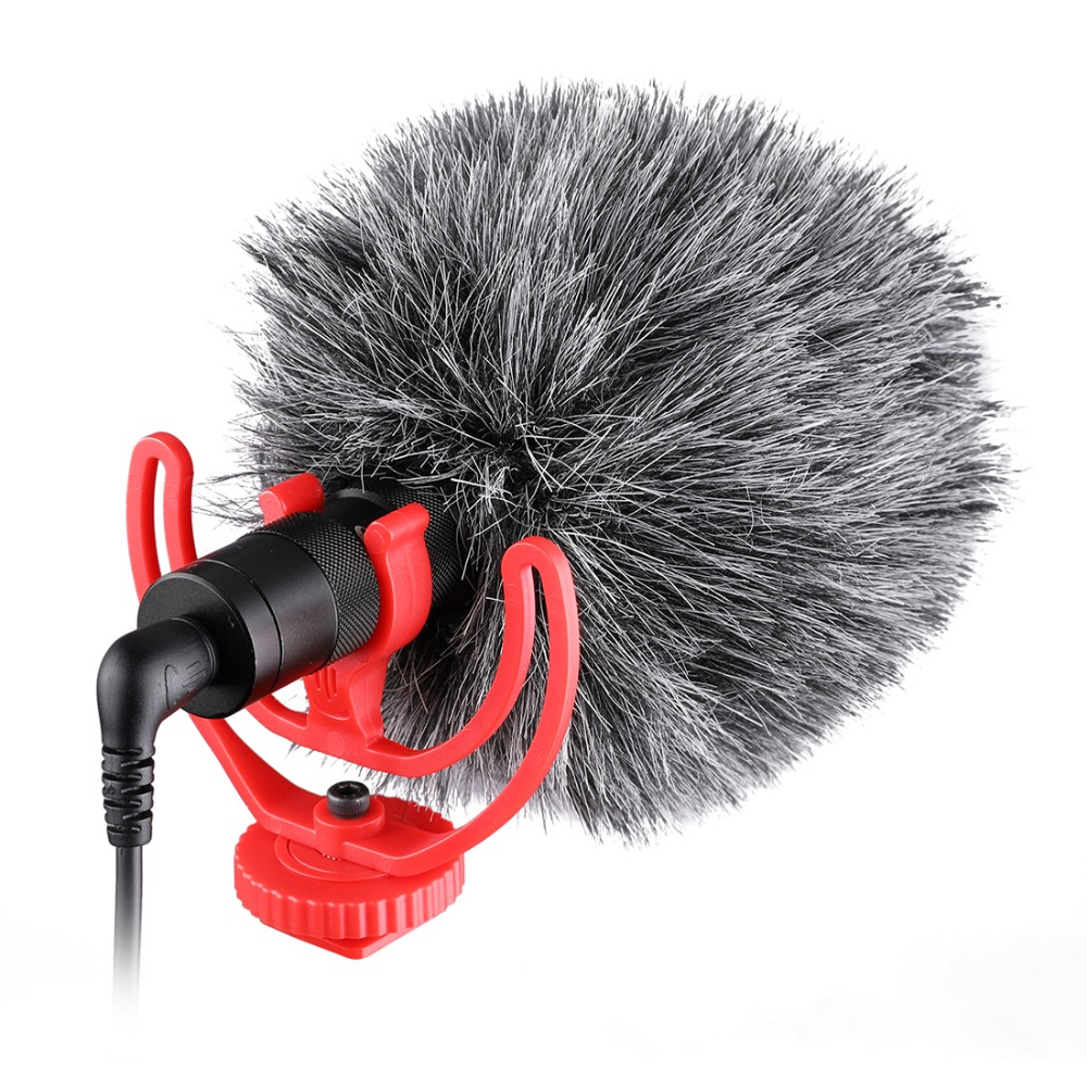 NEW Come Video Record Microphone Compact Video Micro On Camera Recording Mic for iPhone X 8 7 Huawei Nikon Canon DSLR VS BY MM1 in Microphones from Consumer Electronics