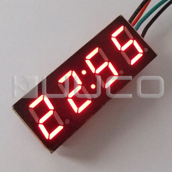 5 PCS/LOT 0.40 Digital Clock Car Motorcycle Red LED Time Electronic DC Watch Ultra Small Adjustable 24 Hour Mode Clock splendid brand new boys girls students time clock electronic digital lcd wrist sport watch