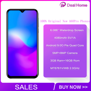 """Image 2 - Blackview A60 Pro 6.088"""" Waterdrop Screen Mobile Phone Android 9.0 4080mAh MTK6761 Dual Rears Cameras 4G Cellphone"""