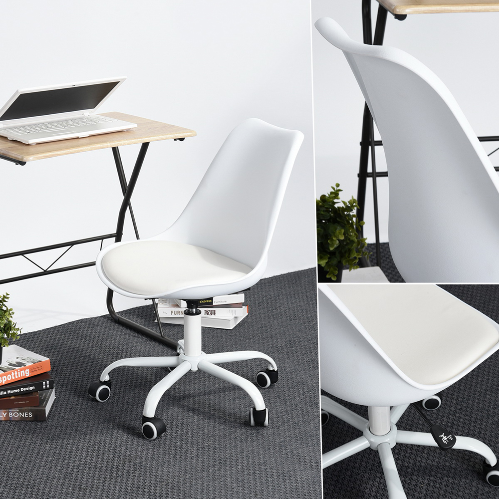 plastic office desk. EGGREE Mid Back Home Office Desk Chair Modern Adjustable Plastic Executive Conference For Desk,White-in Chairs From Furniture On T