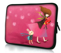 Pink Rabbit and Girl 10 Laptop Bag Case Cover For 10.1 Asus Transformer Pad TF300 TF300T TF700