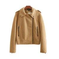 Faux Fur Jacket 2018 New Autumn Winter Women Fleece Fur Coat Long Sleeves Jackets Female Zipper Overcoat Outerwear