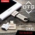 Enchufe Original REMAX Micro USB OTG para Android Móvil para Extienda Almacenamiento Pen Drives Read U-disco Conectar El Ratón Mini Teclado tamaño