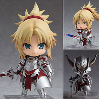 10CM Original Nendoroid Fate/Apocrypha Saber of Red ABS & PVC Painted action figure collection toy doll with box