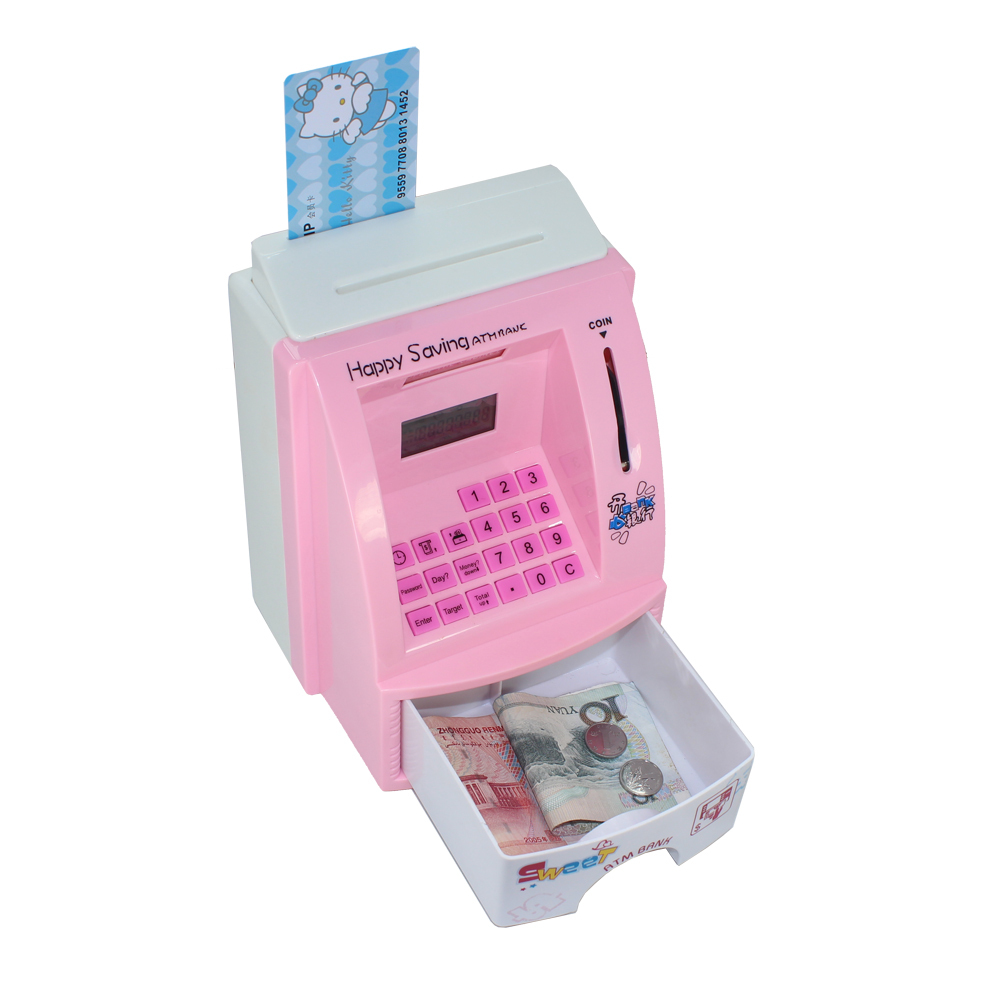 Creative Mini Atm Cash Deposit Machine Bank Toy Digital Coin Save Money Box Saving Kids Gift Christmas In Bo From Home Garden On