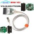 Excellent FT232RL Зеленый PCB V10.30.029 МИНИ-VCI J2534 Интерфейс OBD2 Диагностики Автомобиля МИНИ VCI Для TOYOTA Расширенной Диагностики