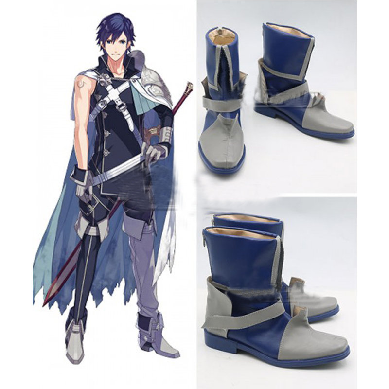 Fire Emblem Chrom Blue Cosplay Shoes Boots Halloween Carnival Cosplay Costume Accessories