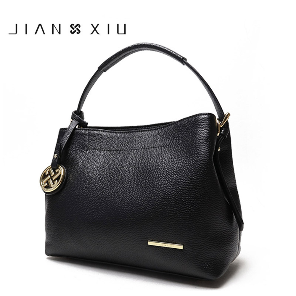 JIANXIU Brand Fashion Luxury Handbags Women Bags Designer Genuine Leather Handbag Solid Color Shoulder Bag 2017 New Female Tote lafestin luxury shoulder women handbag genuine leather bag 2017 fashion designer totes bags brands women bag bolsa female