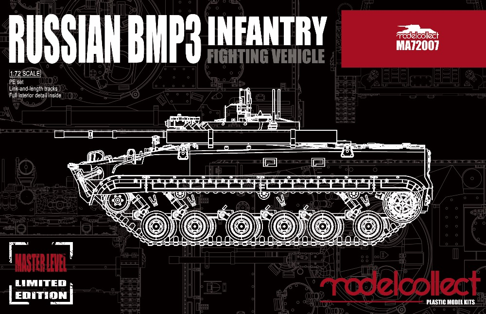 RealTS Modelcollect MA72007, Russian BMP3 Infantry Fighting Vehicle, 1:72
