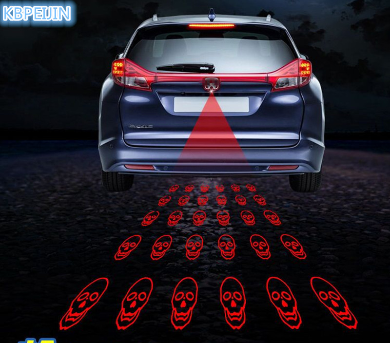 New Pattern Anti Collision Rear-end Car Laser Tail Fog Light Sticker For Mitsubishi Outlander 2016 Lancer 10 Pajero Accessories