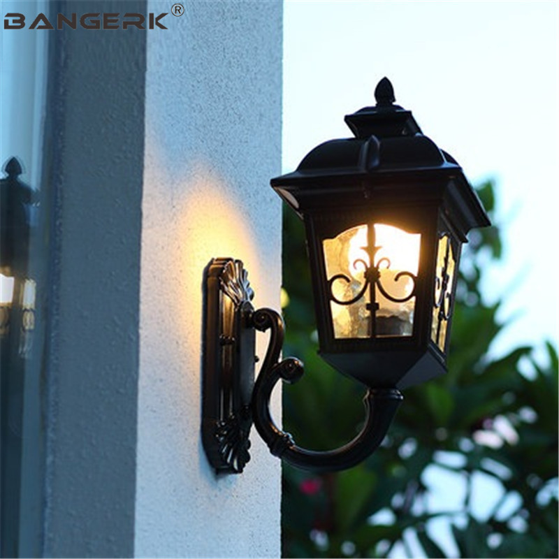 European Waterproof LED Wall lamp Vintage Outdoor Antirust ... on Exterior Wall Sconce Light Fixtures id=97379