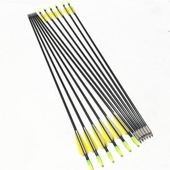 Fiberglass Arrows Length 79cm Spine 700 OD 7mm 6/12/24PCS For Hunting Shooting Outdoor