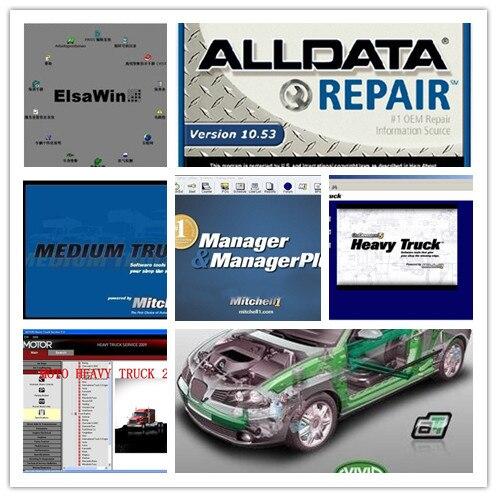 Цена за Все данные про alldata 10.53 и mitchell по требованию + moto тяжелых грузовиков + для vw для audi elsawin 5.2 авто ремонт программного обеспечения 2017 hdd 1 ТБ