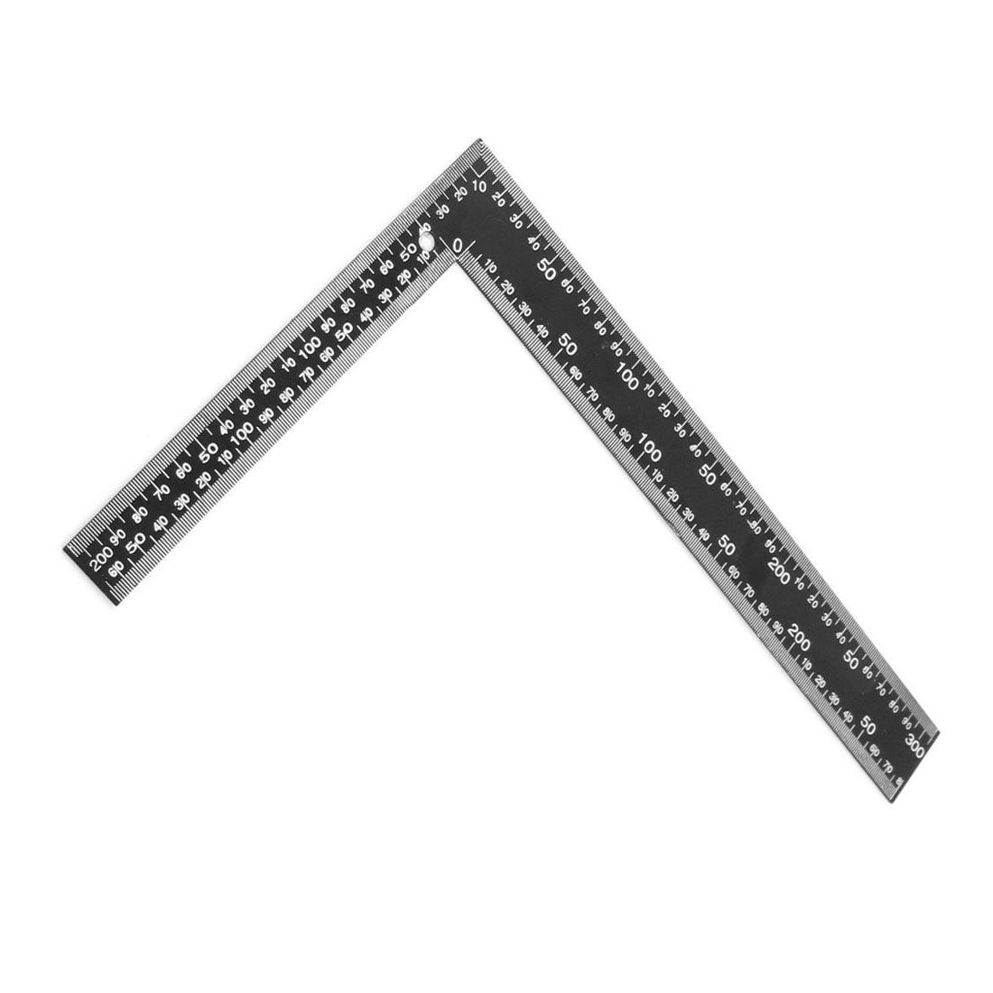 Teacher 0-30cm 0-20cm Measuring Range L Shaped Design Square Ruler Black