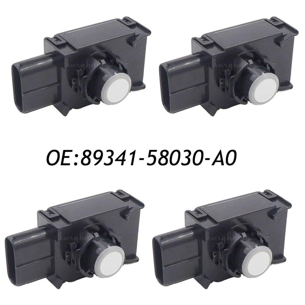 цены  4PCS PDC Backup Reverse Parking Aid Sensor For Toyota Alphard 89341-58030 89341-58030-A0 White