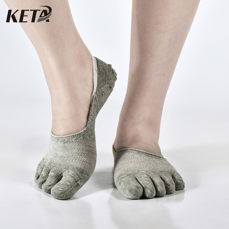 KETA New Fashion Brand Men Toe Socks Male Solid Casual Five Finger Socks Man Colorful Mesh Short Invisible Socks (5Pairs/lot)