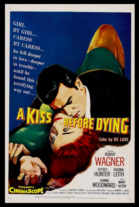 A Kiss Before Dying Classic Movie Film Noir Retro Vintage Poster Canvas Painting DIY Wall Paper Home Decor Gift image