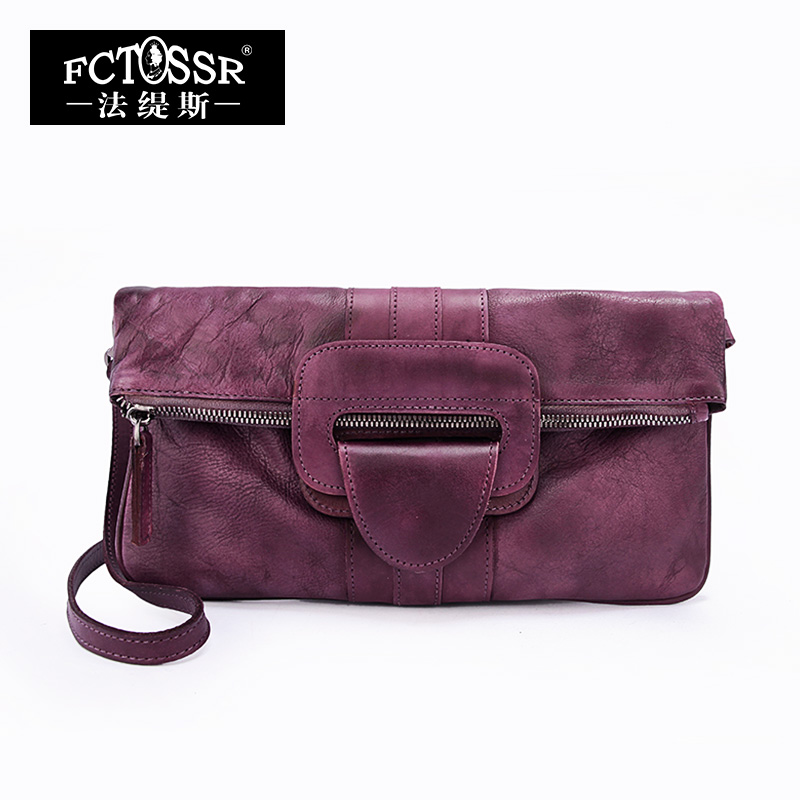 2018 Vintage Handmade Genuine Leather Women Clutch Messenger Bag Women Handbag Cow Leather Women Bags women day clutch genuine leather envelope bag banquet women handbag vintage cowlayer messenger bag