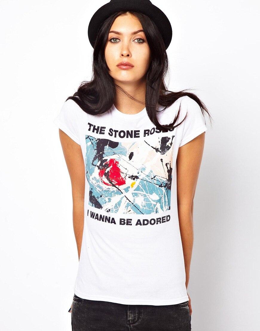 2016 Summer Harajuku T Shirt Women The Stone Roses Printed Logo Tee Shirts Femme Sexy Camiseta