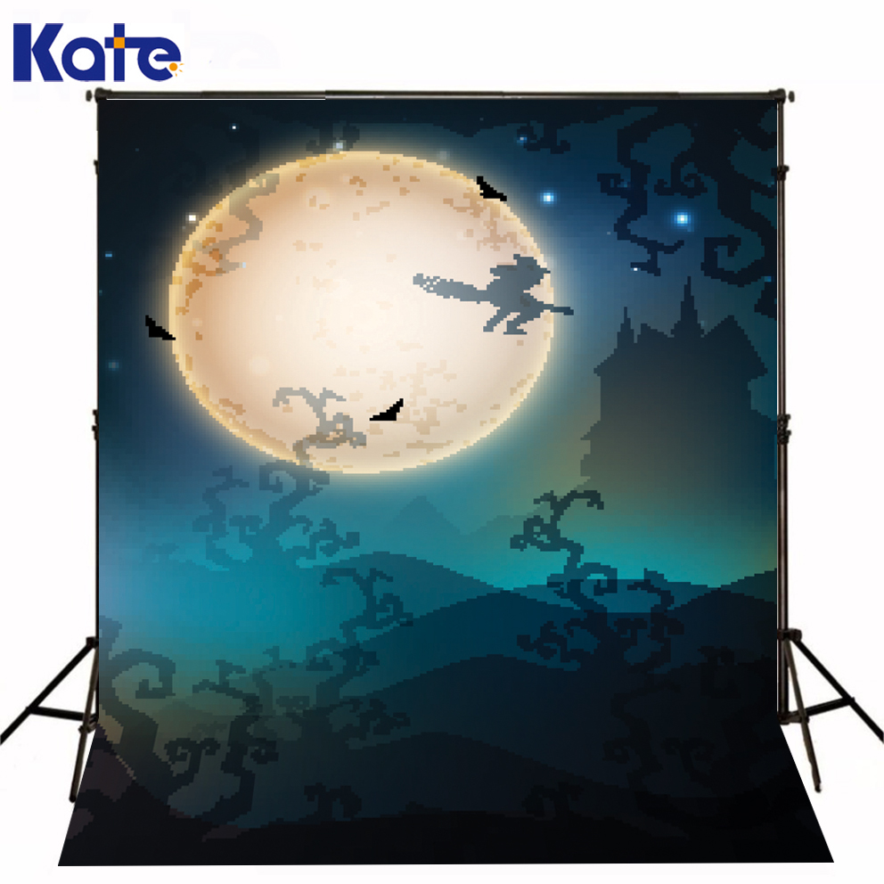 Photo Studio Backdrop Happy Halloween Photo Studio Backdrop Big Moon Kate Background Backdrop allenjoy background for photo studio full moon spider black cat pumpkin halloween backdrop newborn original design fantasy props