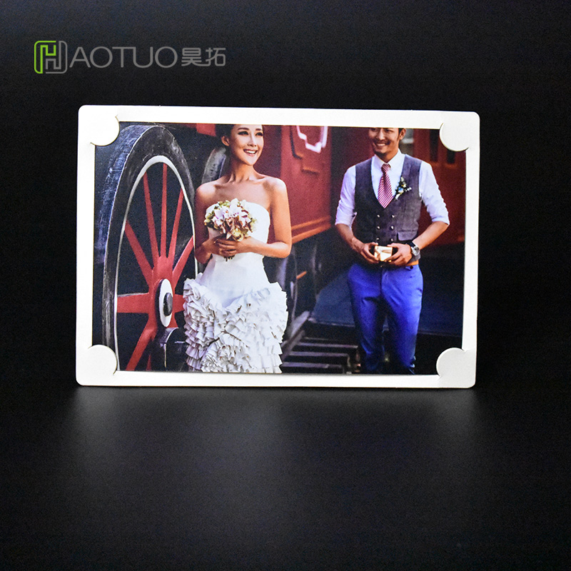 HAOTUO Photo Frame Acid Free White Picture Frame for 6 inch Photo DIY Handmade Fotolijstjes Home Decor Cardboard Frame HT-512