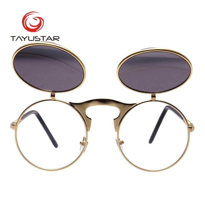 Vintage Steampunk Occhiali Da Sole Rotondi Designer Punk del Vapore del Metallo Oculos De Sol Donne Occhiali Da Sole Rivestimento Uomini Retro Circle Sun Glasse