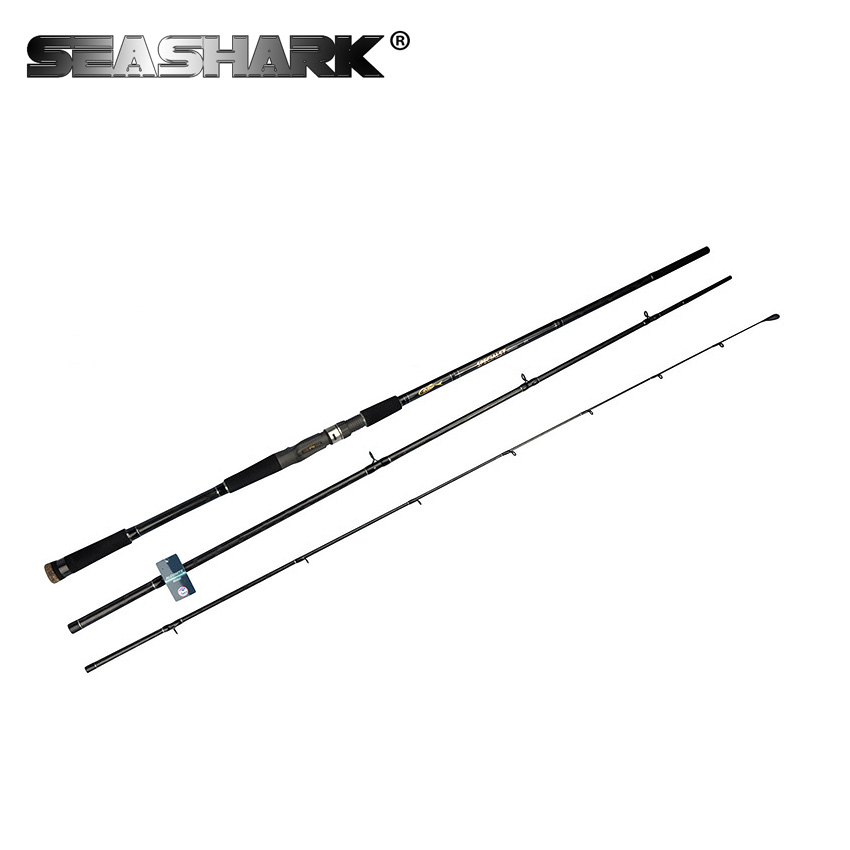 SEASHARK Carbon Boat Fishing Rods Ultra Hard FUJI Ring FUJI Wheel Seat Troll Jigging Pole Fish Tackle Poles