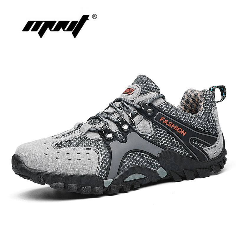Spring Casual Shoes Men Breathable   Suede     Leather   Flats Shoes Anti-Skidding Rubber Sole Hiking Shoes Fashion Sneakers