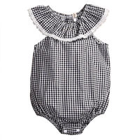 Baby Girls Bodysuit Sunsuit Plaid Outfits Clothes Newborn Baby Girl Clothing Tops Cotton Jumpsuit