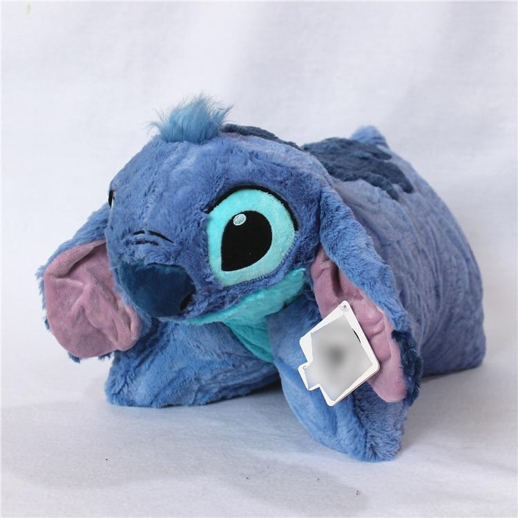 42*50cm Cute Lilo and Stitch Plush Pillow Folded Transform Cushions Stuffed Animals Soft Toys for Children Kids birthday present недорго, оригинальная цена