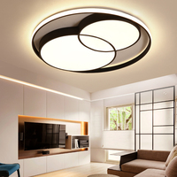 Dia420/500/600/780mm White or Black Round Ceiling Lights For Living Room Bedroom Master Room Ceiling Lamp Fixtures