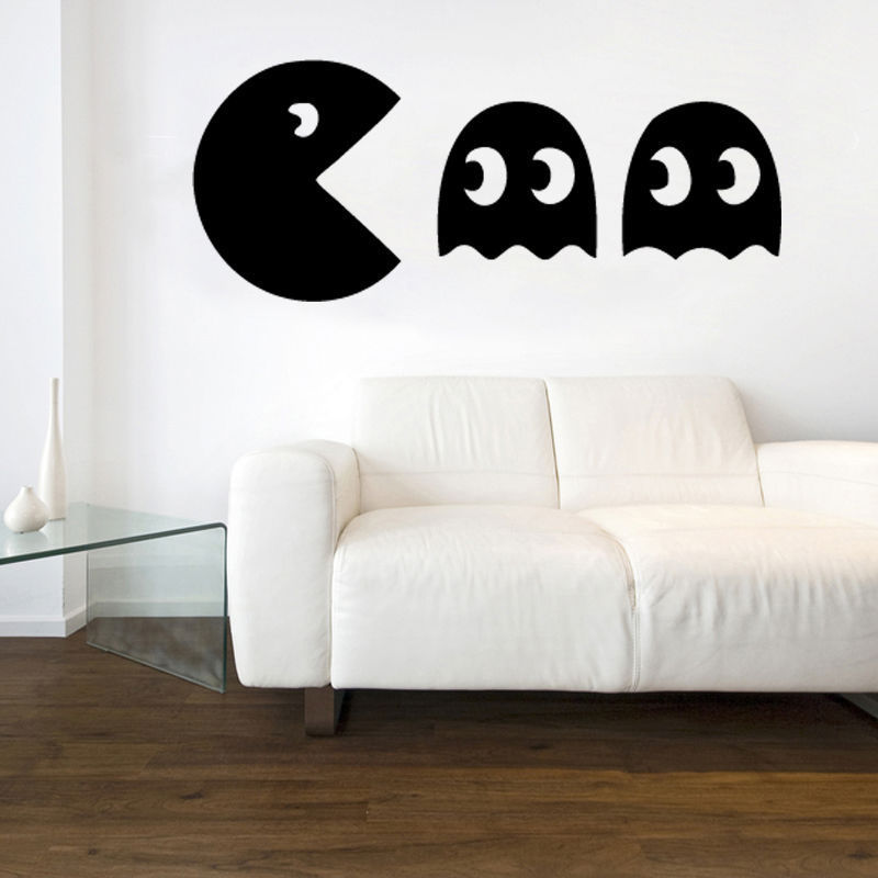 Pacman Decal Vinyl Wall Sticker Art Retro Gaming Original Kids Room free shipping ...