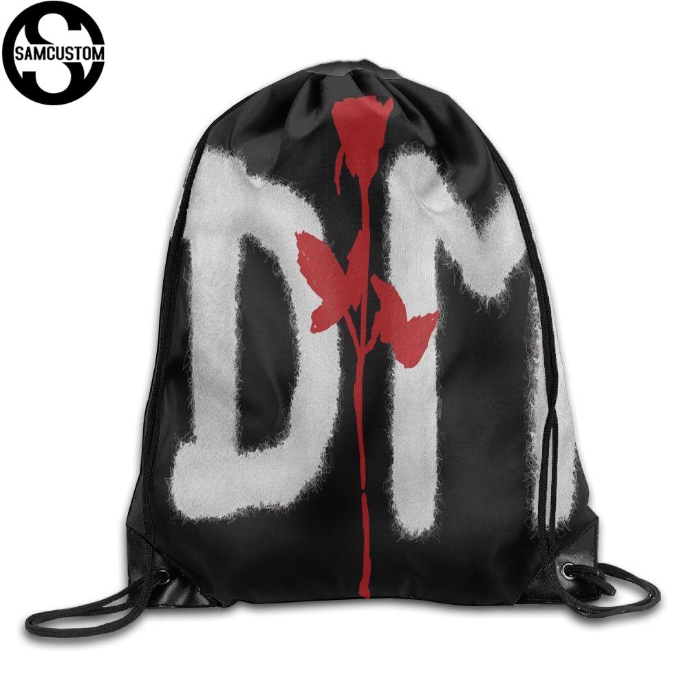 SAMCUSTOM Depeche Mode 3D Print Shoulders Bag Fabric Backpack men and women Port Drawstring Travel Shoes Dust Storage Bags