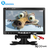 Free Shipping 7 Inch Industrial Car Reverse Backup Rearview LCD Monitor 800x480 2 AV Input Screen