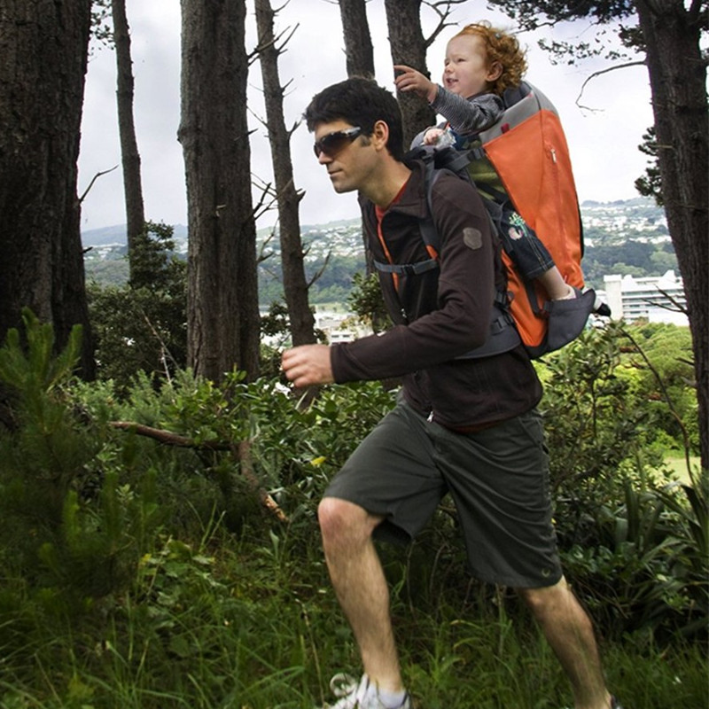 2019 New Baby Travel Carrier Waterproof Baby Toddlr Hiking Backpack Outdoor Mountaineering Shade Baby Back Frame Chair