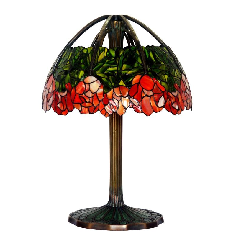 FUMAT Art Kaca Lampu Meja Lampu Berkualitas Tinggi Tembaga Murni Kaca - Pencahayaan dalam ruangan - Foto 4