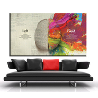 Xdr735 Left And Right Brain Differences Canvas Painting Wall Art Education Poster Home Decor Canvas Print