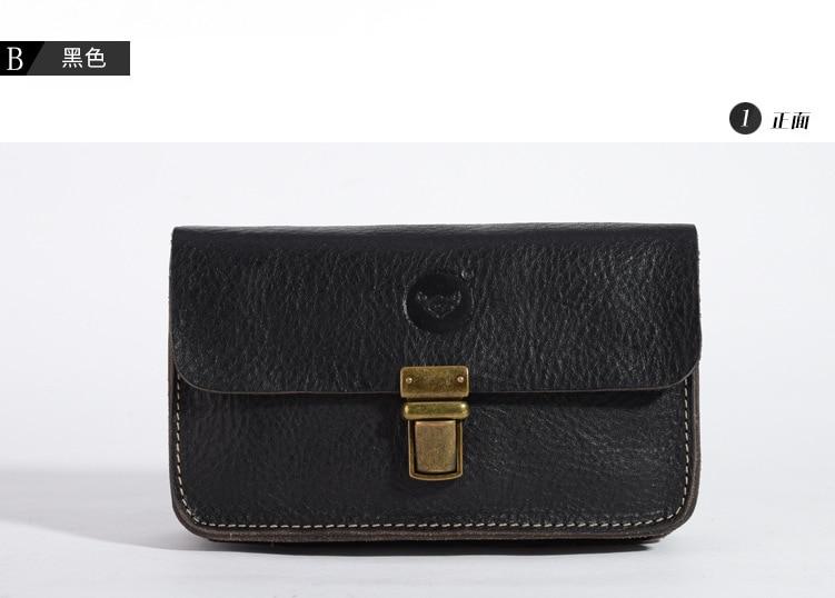 64a96d30b8d6 Винтаж Crazy Horse кожаный кошелек Apple 6 плюс Мобильный телефон сумка Для  мужчин карманы талии сумка