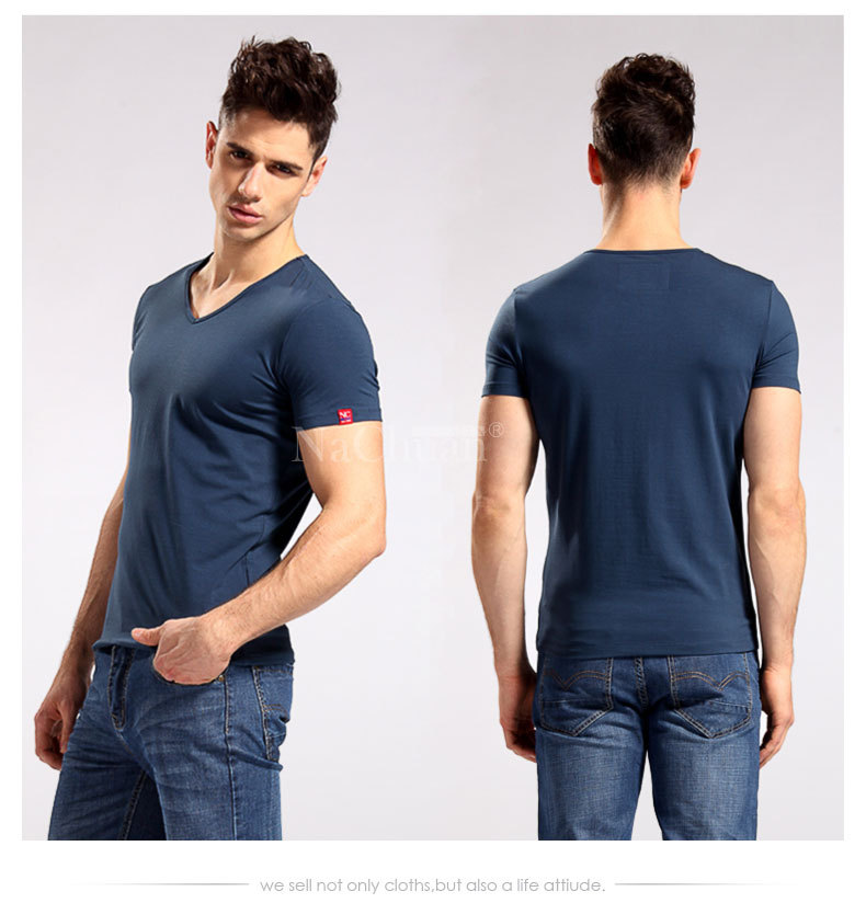 4f5c1723a8dc Mens t shirt Slim Fit V neck/crew neck T shirt Short Sleeve Muscle Tee all  Size-in T-Shirts from Men's Clothing on Aliexpress.com | Alibaba Group
