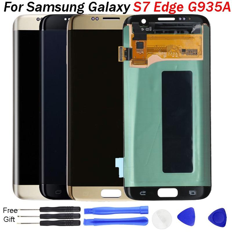 S7 bord LCD affichage pour Samsung S7 bord LCD affichage G935 G935F affichage LCD écran tactile numériseur assemblée G935 LCD remplacement