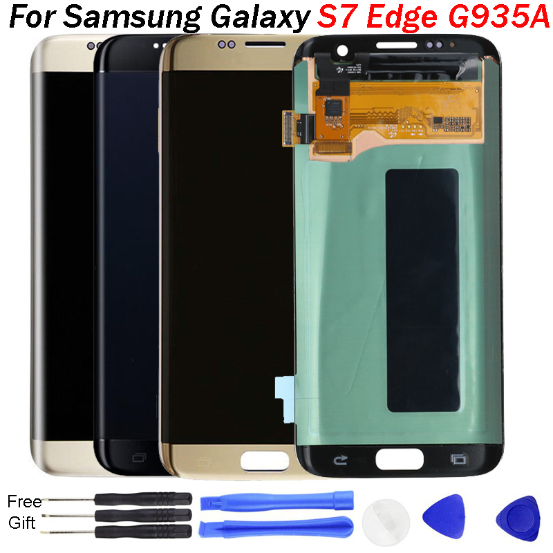 5.5 Super AMOLED Screen For Samsung Galaxy S7 Edge S7Edge G935A G935F SM-G935P LCD Display Touch Digitizer Assembly With Frame image