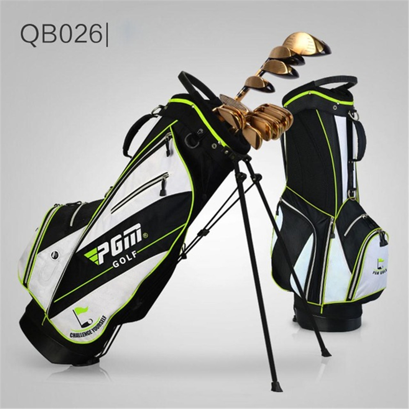 Pgm Golf Bag Waterproof Men Caddy Golf Cart Tripod Rack Stuff Golf Bag Women Bracket Gun Stand Bag Hold 14 Clubs D0068 mizuno aerolite x golf stand bag white royal