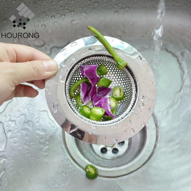 1 PZ Bagno Filtro di Scarico In Acciaio Inox Fogna Lavello Della Cucina Filtri Anti Intasamento Scarico A Pavimento Netto Accessori Da Cucina